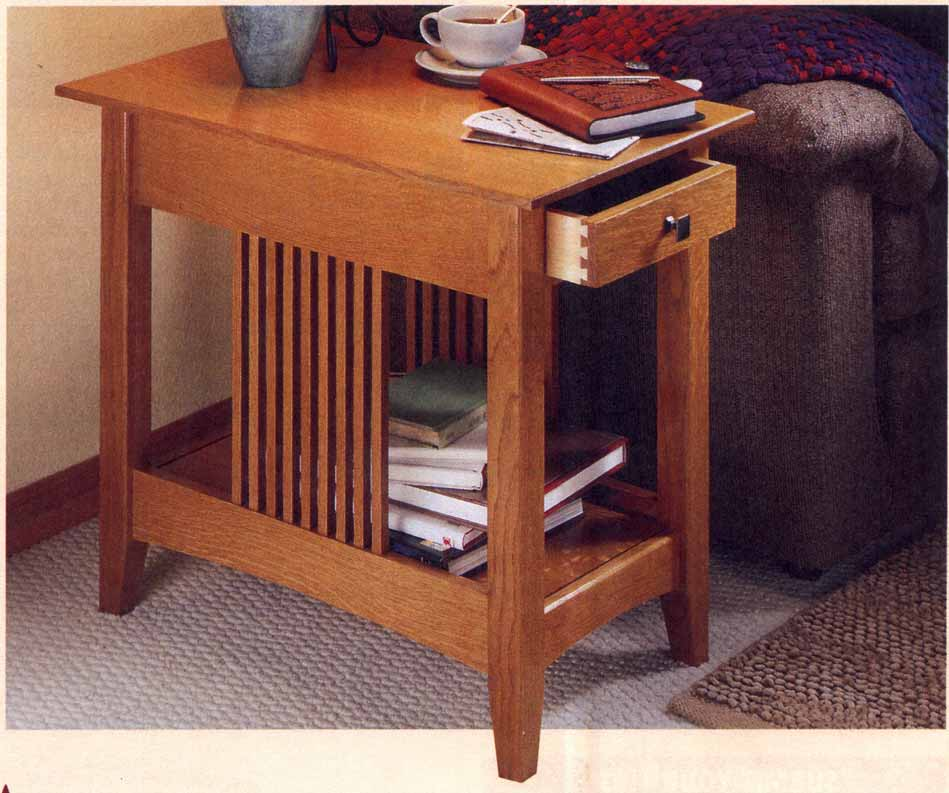 Hollands mission style end table woodworking plans for Mission style end table plans