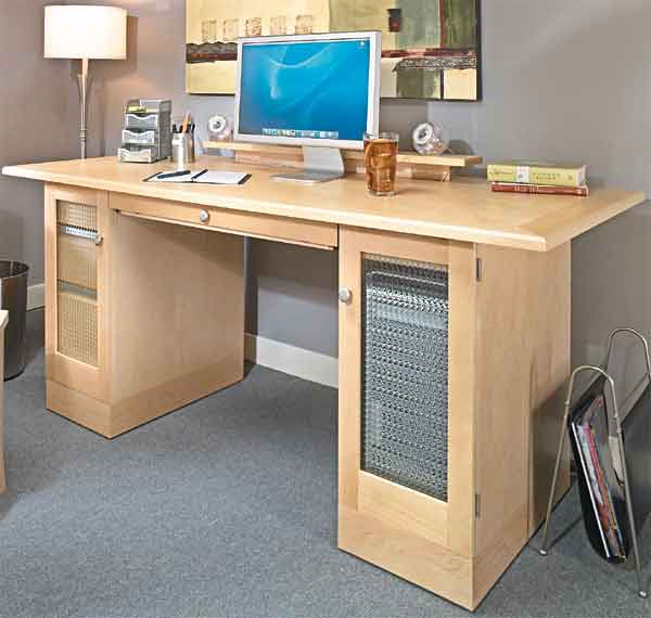 Computer Desk w/ added Printer cabinet and Lateral File Cabinet