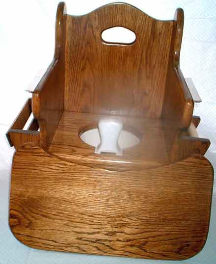 ... Oak Potty Chair W/ Tray Removed